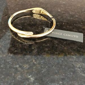 Vince Camuto gold hinge bangle
